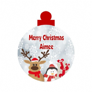 Christmas Theme Acrylic Christmas Ornament Decoration